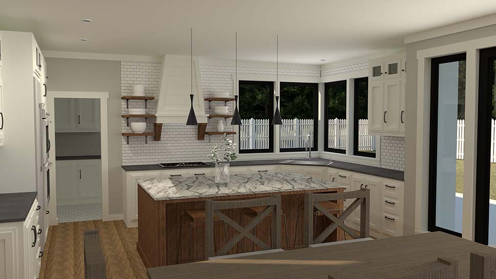 Farmhouse House Plan 40905 with 3 Beds, 4 Baths, 2 Car Garage Picture 1