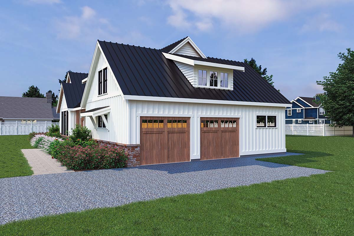 Contemporary, Farmhouse House Plan 40906 with 3 Beds, 3 Baths, 2 Car Garage Picture 1