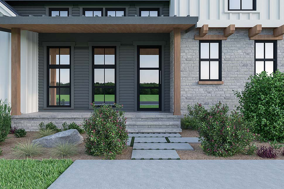 Contemporary, Country, Farmhouse House Plan 40908 with 3 Beds, 3 Baths, 2 Car Garage Picture 3
