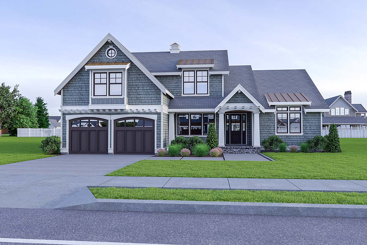 Coastal, Cottage, Craftsman House Plan 40912 with 3 Beds, 3 Baths, 2 Car Garage Elevation