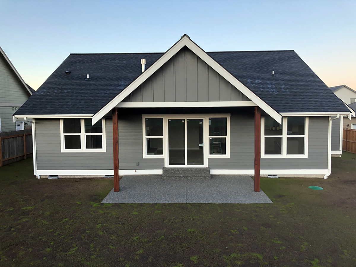 Country, Craftsman House Plan 40920 with 3 Beds, 2 Baths, 2 Car Garage Rear Elevation