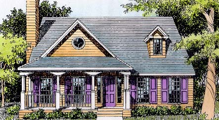 Country , Southern House Plan 41000 with 3 Beds, 3 Baths Elevation