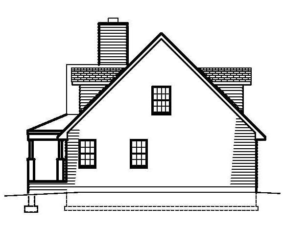 Country, Southern House Plan 41000 with 3 Beds, 3 Baths Picture 2