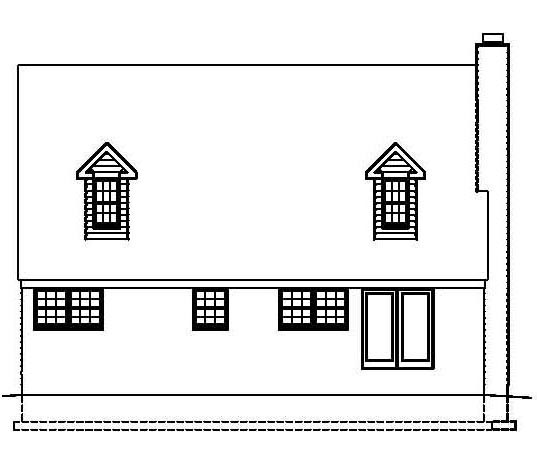 Country Southern House Plan 41000 Rear Elevation