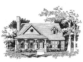 Country , Southern House Plan 41003 with 3 Beds, 3 Baths, 2 Car Garage Elevation