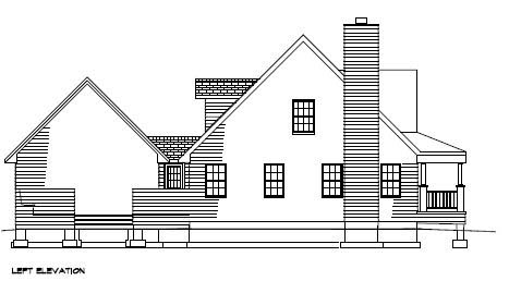 Country, Southern House Plan 41003 with 3 Beds, 3 Baths, 2 Car Garage Picture 1