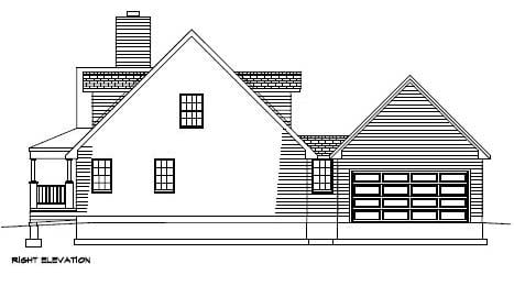 Country, Southern House Plan 41003 with 3 Beds, 3 Baths, 2 Car Garage Picture 2