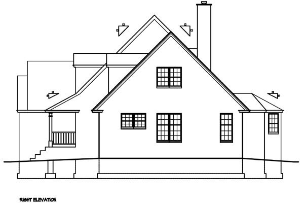Cape Cod, Country, Southern House Plan 41004 with 3 Beds, 3 Baths, 2 Car Garage Picture 2