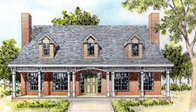 Cape Cod Country Southern House Plan 41007 Elevation