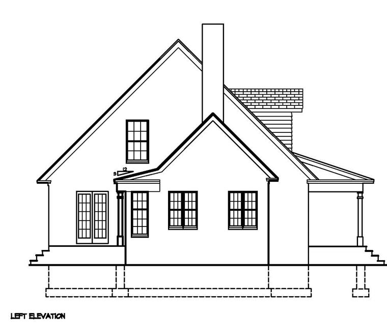 Cape Cod, Colonial, Country, Southern House Plan 41011 with 3 Beds, 3 Baths Picture 1