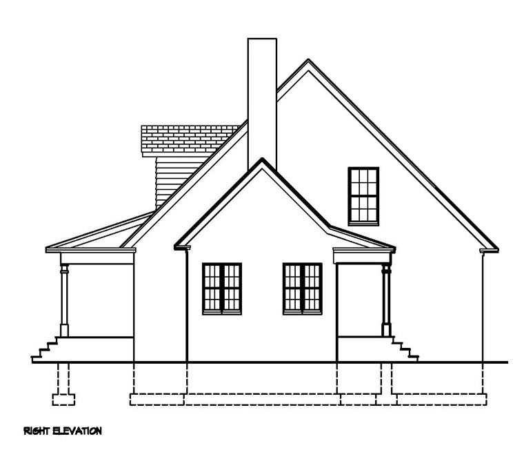 Cape Cod, Colonial, Country, Southern House Plan 41011 with 3 Beds, 3 Baths Picture 2