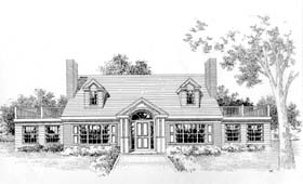 Cape Cod Colonial House Plan 41012 Elevation