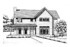 Country , Farmhouse House Plan 41015 with 3 Beds, 3 Baths Elevation