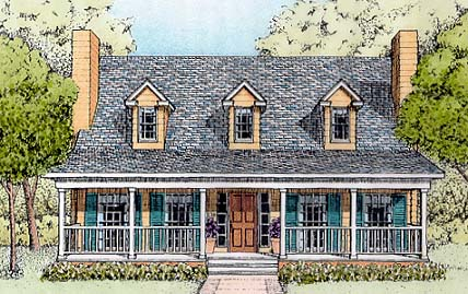 Country House Plan 41021 Elevation