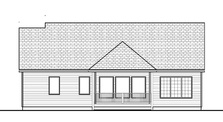 Traditional House Plan 41100 Rear Elevation