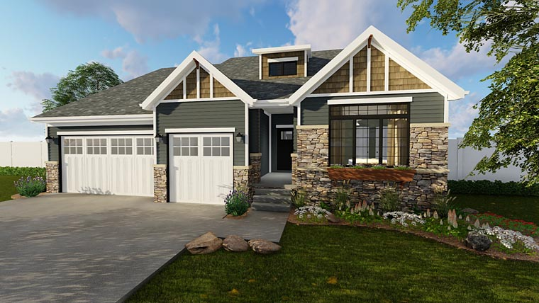 Craftsman House Plan 41101 Elevation