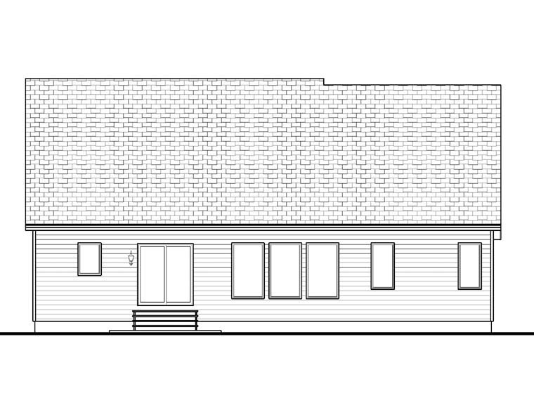 Craftsman House Plan 41101 Rear Elevation