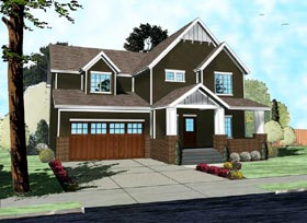 Craftsman Traditional House Plan 41103 Elevation
