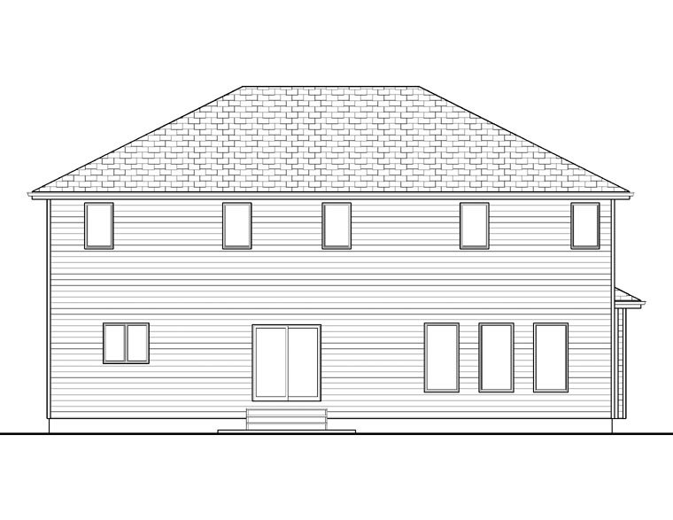 House Plan 41104 Rear Elevation