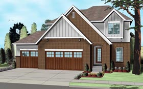 Country European Traditional House Plan 41108 Elevation