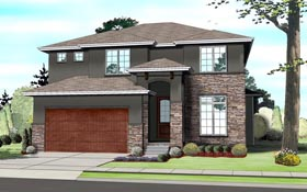 Contemporary Prairie Style Southwest House Plan 41109 Elevation