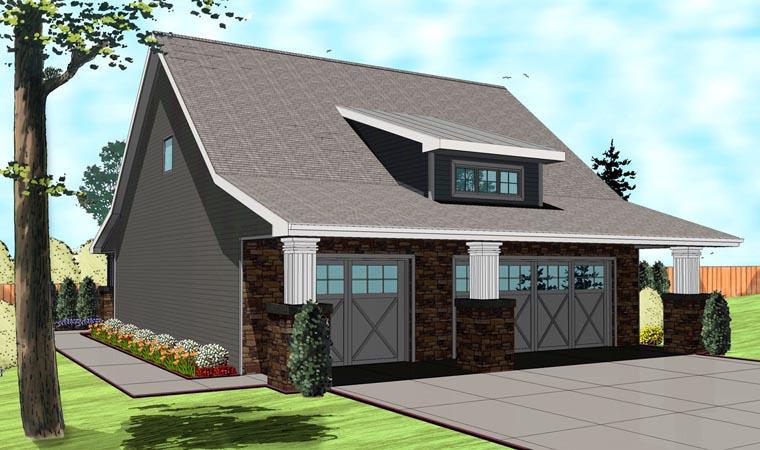 Craftsman Traditional Garage Plan 41110 Elevation