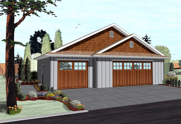 Craftsman Traditional Garage Plan 41114 Elevation