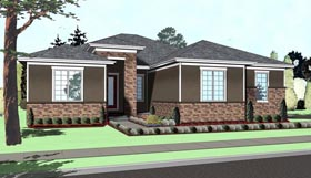 House Plan 41117 | Mediterranean Style Plan with 2195 Sq Ft, 3 Bedrooms, 3 Bathrooms, 2 Car Garage Elevation