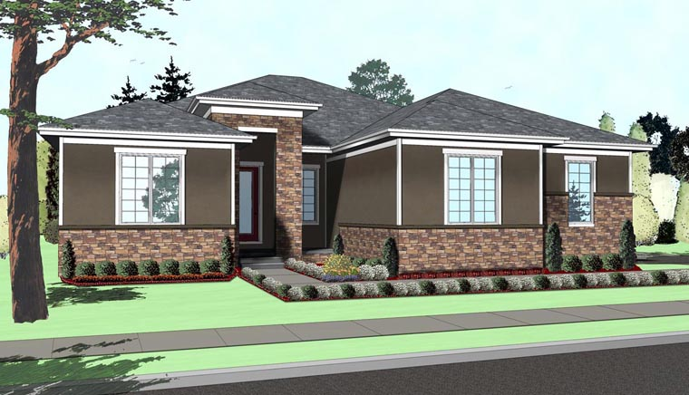 Mediterranean House Plan 41117 with 3 Beds, 3 Baths, 2 Car Garage Elevation