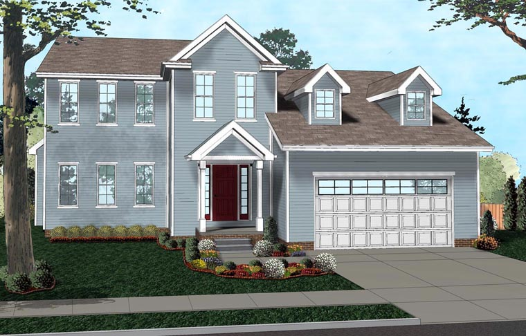 Colonial House Plan 41119 Elevation