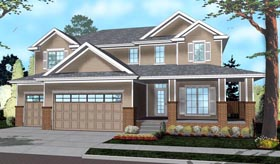 House Plan 41120 | Traditional Style House Plan with 2906 Sq Ft, 4 Bed, 3 Bath, 3 Car Garage Elevation
