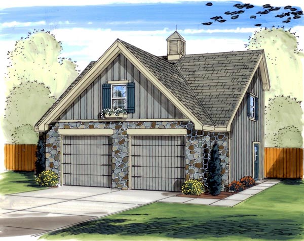 Traditional 2 Car Garage Plan 41122 Elevation