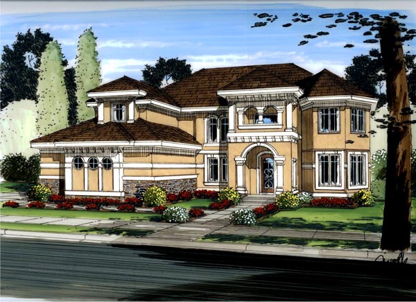 Mediterranean Traditional House Plan 41123 Elevation