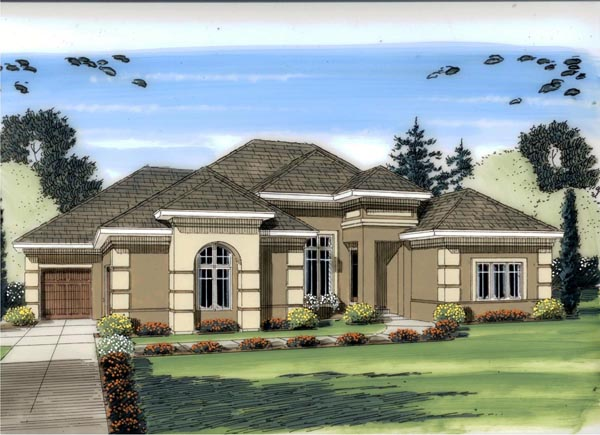 Mediterranean Traditional House Plan 41124 Elevation