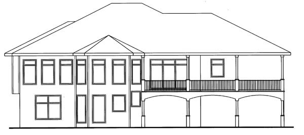 Mediterranean Traditional House Plan 41124 Rear Elevation