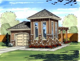 Mediterranean Traditional Garage Plan 41125 Elevation