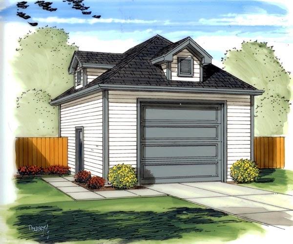 Traditional Garage Plan 41135 Elevation