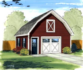 Farmhouse Traditional Garage Plan 41136 Elevation