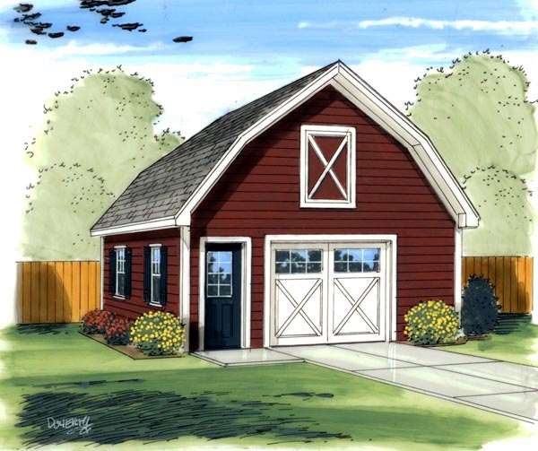 Farmhouse Traditional Garage Plan 41136 Elevation