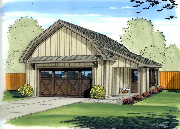 Country Farmhouse Garage Plan 41137 Elevation