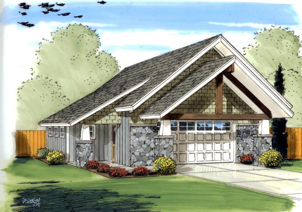 Craftsman Traditional Garage Plan 41138 Elevation