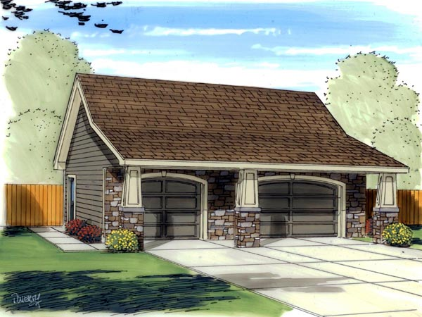 Craftsman Traditional Garage Plan 41139 Elevation