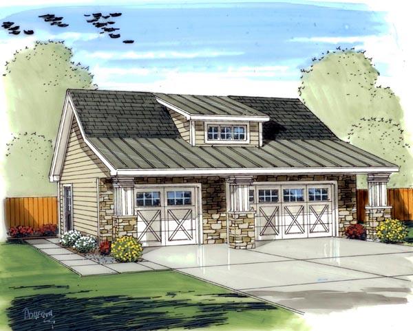 Craftsman Traditional Garage Plan 41140 Elevation