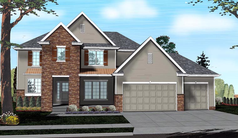 Traditional House Plan 41142 Elevation