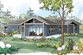 Country Ranch House Plan 41147 Elevation