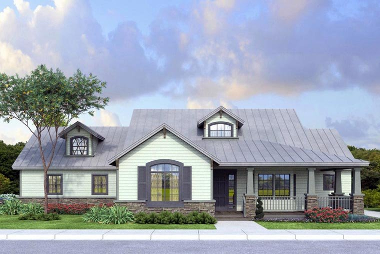 Country Ranch Traditional Elevation of Plan 41148