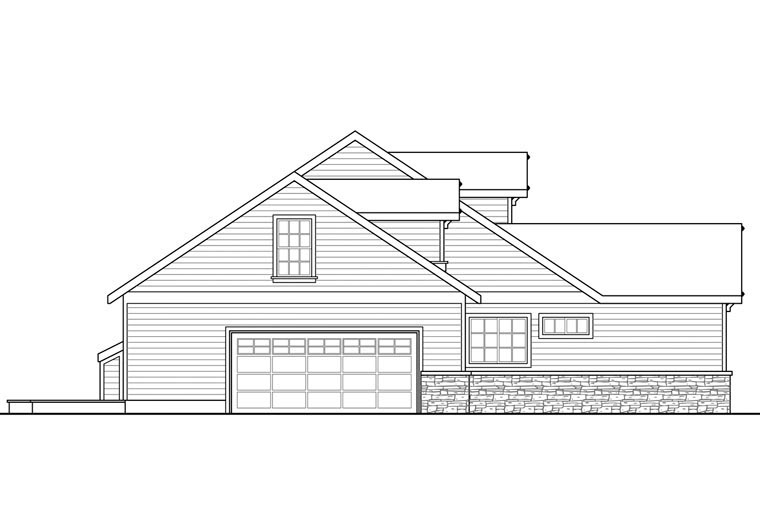 Country, Ranch, Traditional House Plan 41148 with 3 Beds, 2 Baths, 2 Car Garage Picture 1