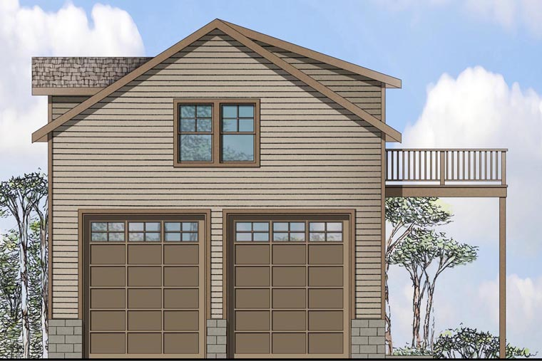 Traditional 2 Car Garage Apartment Plan 41149 with 1 Beds, 1 Baths Elevation