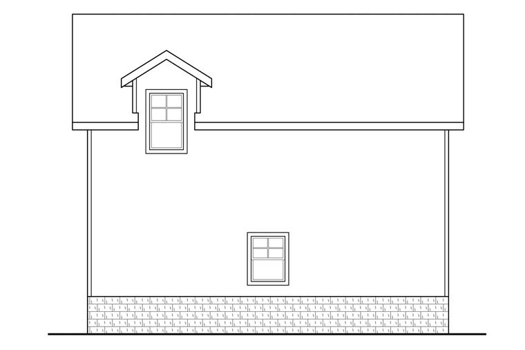 Traditional 2 Car Garage Apartment Plan 41149 with 1 Beds, 1 Baths Picture 1