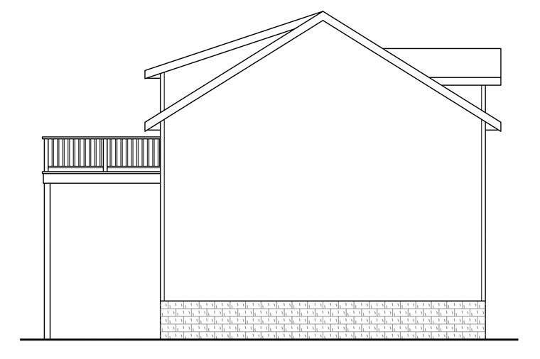 Traditional Rear Elevation of Plan 41149